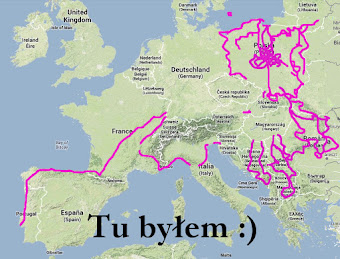 Mapa wypraw rowerowych