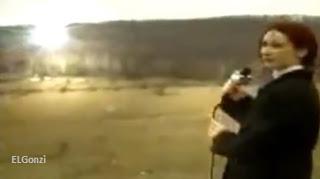 reportera rusa y un ovni en las montañas
