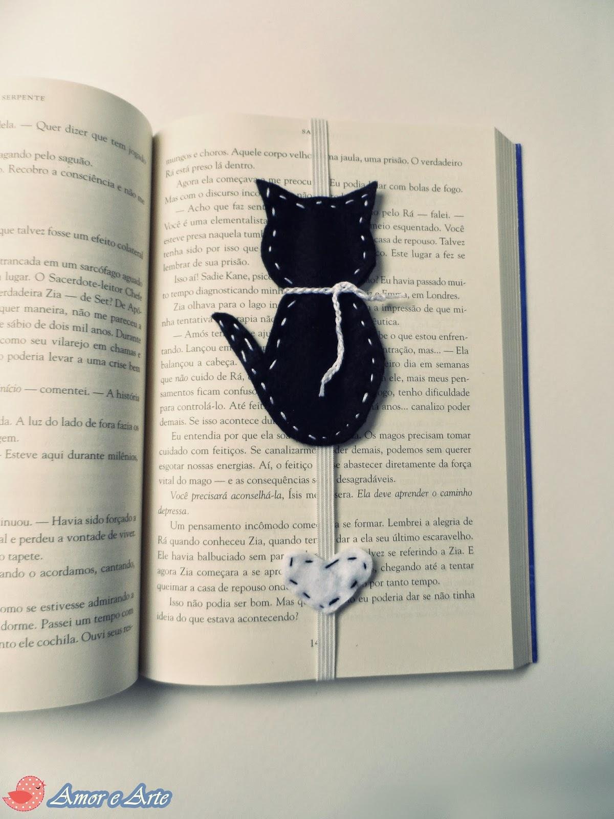 Amor e arte gatinho marcador de p ginas - Paginas de manualidades ...