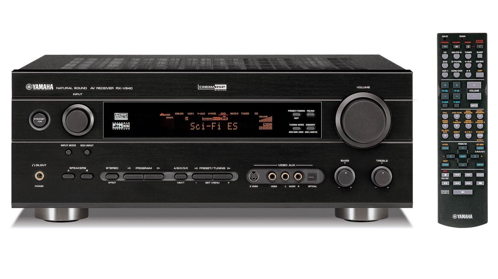 yamaha rx v640 av receiver audiobaza