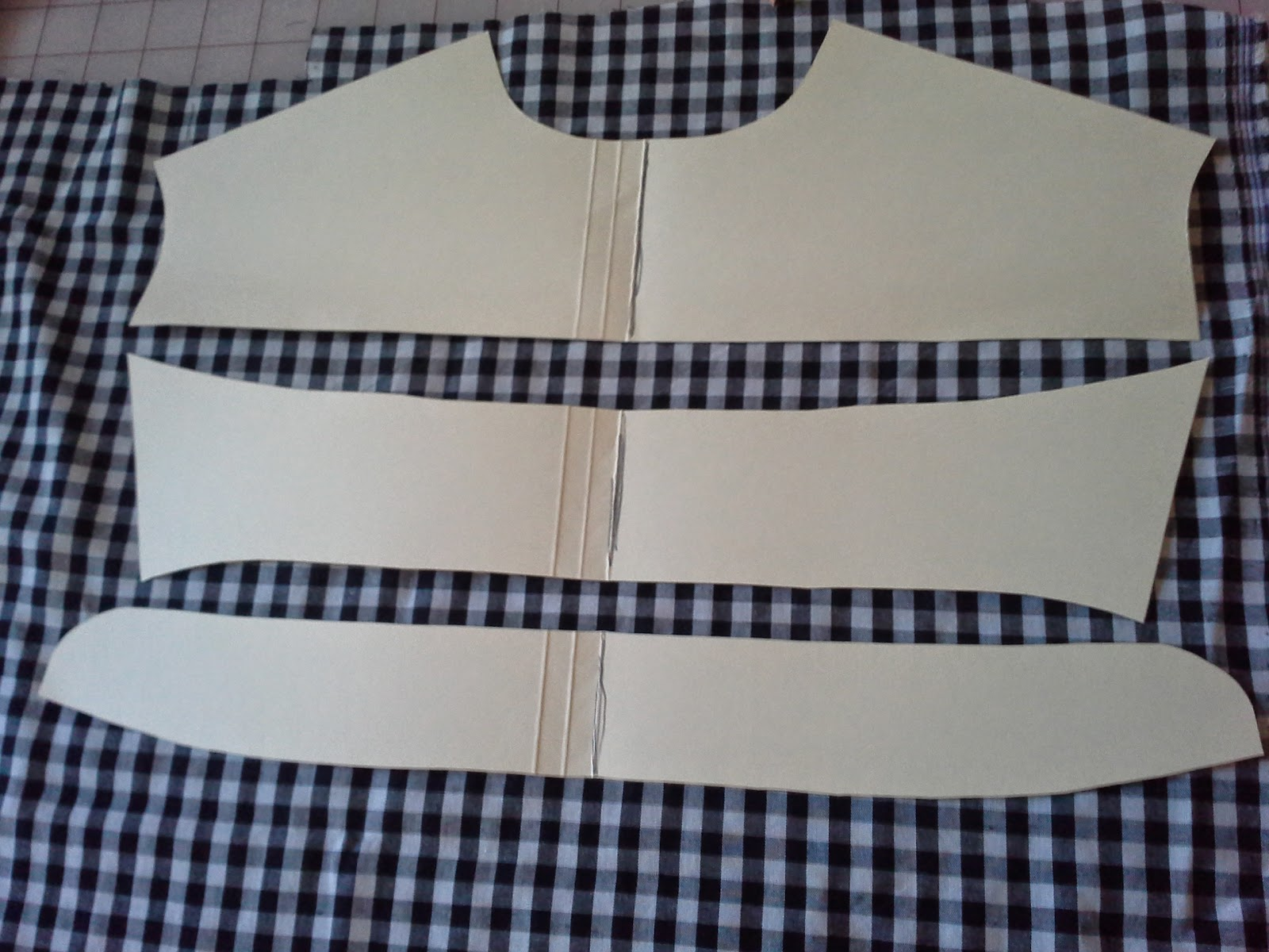matching pattern by lining up pattern pieces before cutting