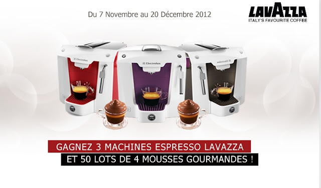 50 lots de 4 mousses Lavazza Le Voglie + 3 machines espresso Lavazza