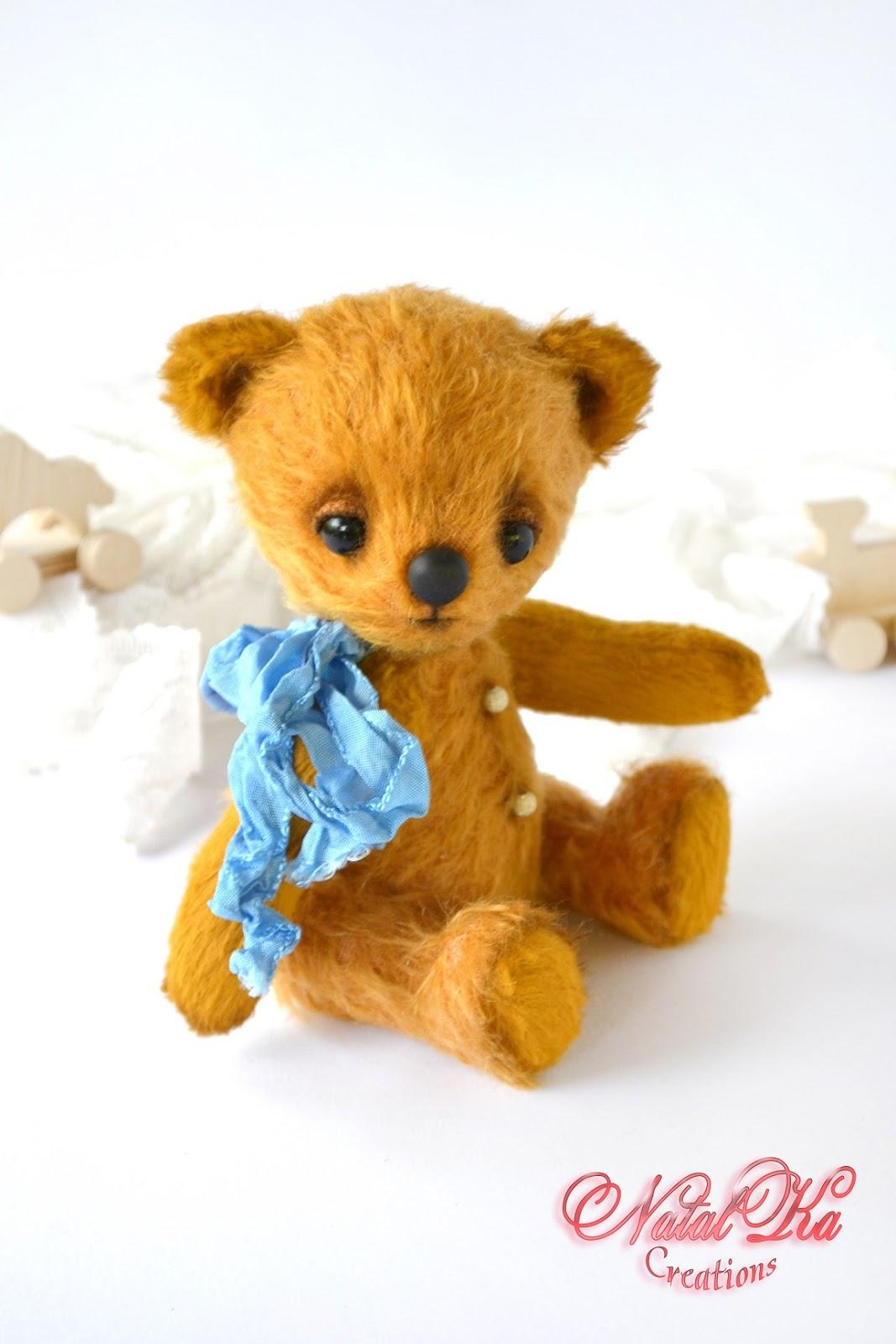 Авторский медведь мишка медвежонок тедди из мохера ручной работы от NatalKa Creations. Künstlerbär Teddybär Sammlerbär Bär Teddy handgemacht aus Mohair von NatalKa Creations