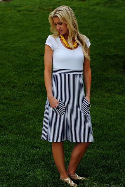 Nautical Dress Sewing Tutorial