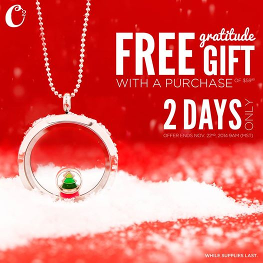 2-Days Only: Origami Owl FREE Gratitude Gift with Purchase | Shop StoriedCharms.com