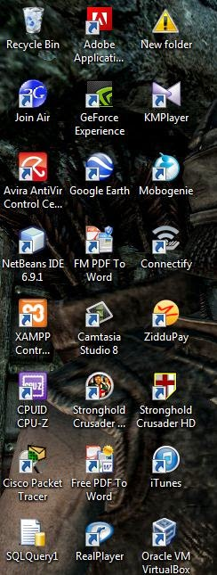 Cara menyembunyikan icon pada desktop win7