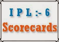 ipl 6 scorecards