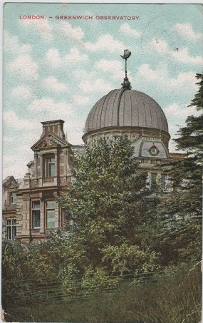 Vintage postcard of the Greenwich Observatory, London