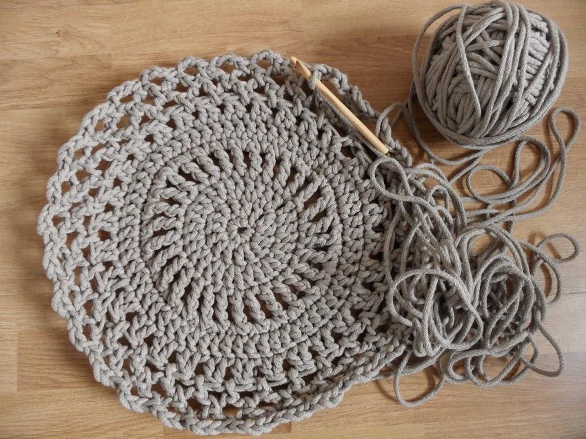 dywanik z bawełnianego sznurka
