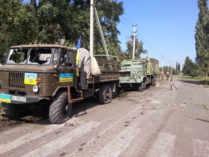 Из окружения под Иловайском прорвались несколько сот украинских военнослужащих из добровольческих батальонов и регулярной армии