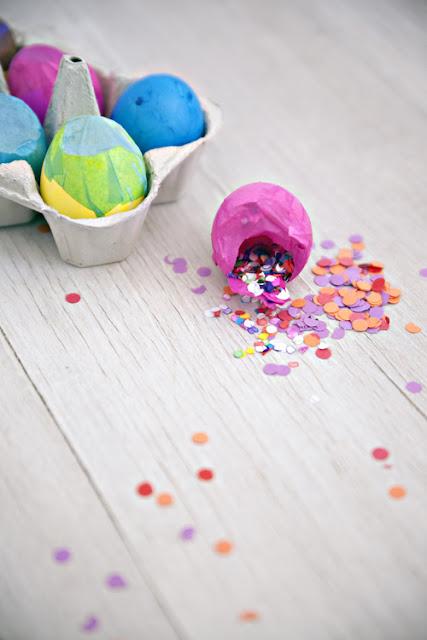 Tutorial huevos de pascua llenos de confeti DIY easter confetti eggs