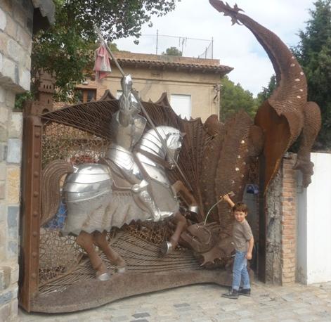 sant jordi mata al dragn ayudado por max y su espada amf