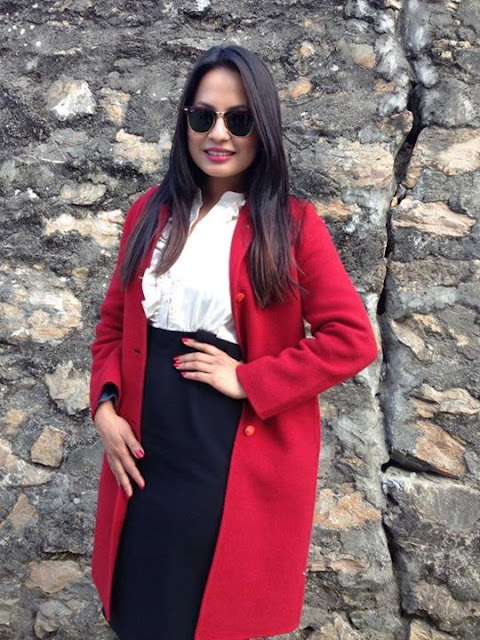 Malvika Subba Loves RED!