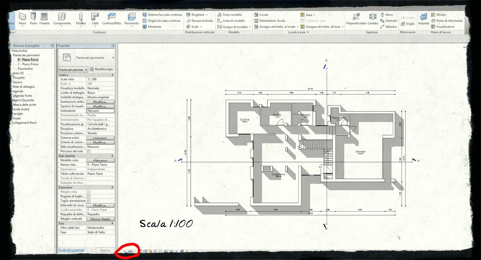 Ctrl alt cad mi sparita la linea di sezione for Planimetrie delle scale curve