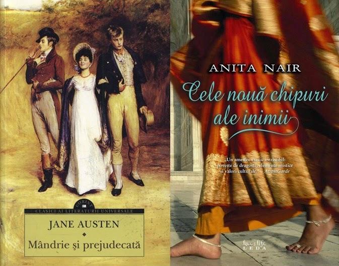 Mandrie si prejudecata de Jane Austen si Cele noua chipuri ale inimii de Anita Nair