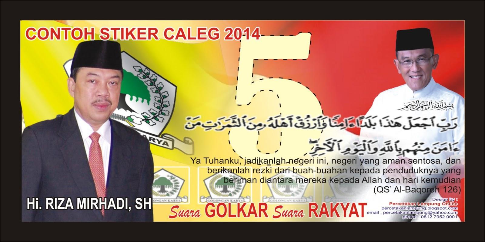 promosi caleg dengan menggunakan stiker