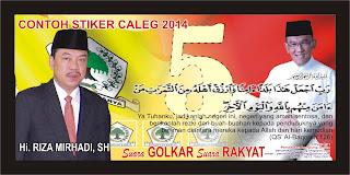 contoh stiker caleg golkar 2014