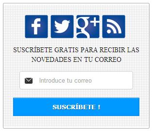 Gadget suscripción a redes sociales