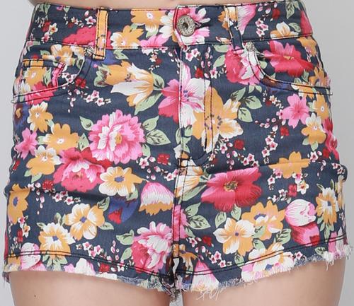 Festive Floral Shorts