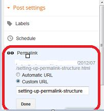 blogger blog allow permalink