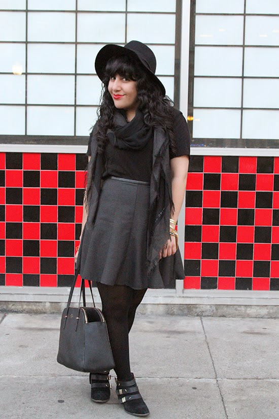 LE TOTE Skater Skirt and Blouse Outfit