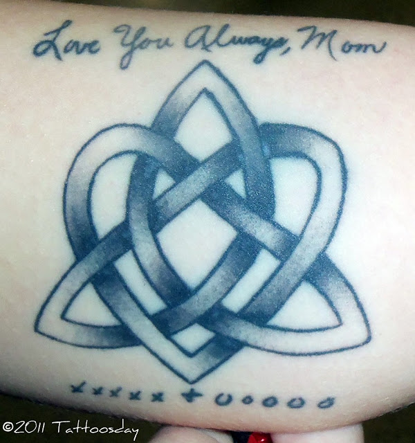 This design incorporates a heart, a triquetra (Celtic trinity knot ...
