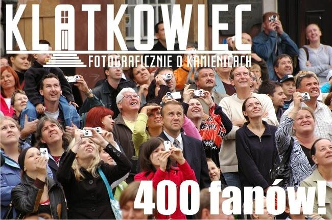 400 fanów na profilu Klatkowca na Facebook