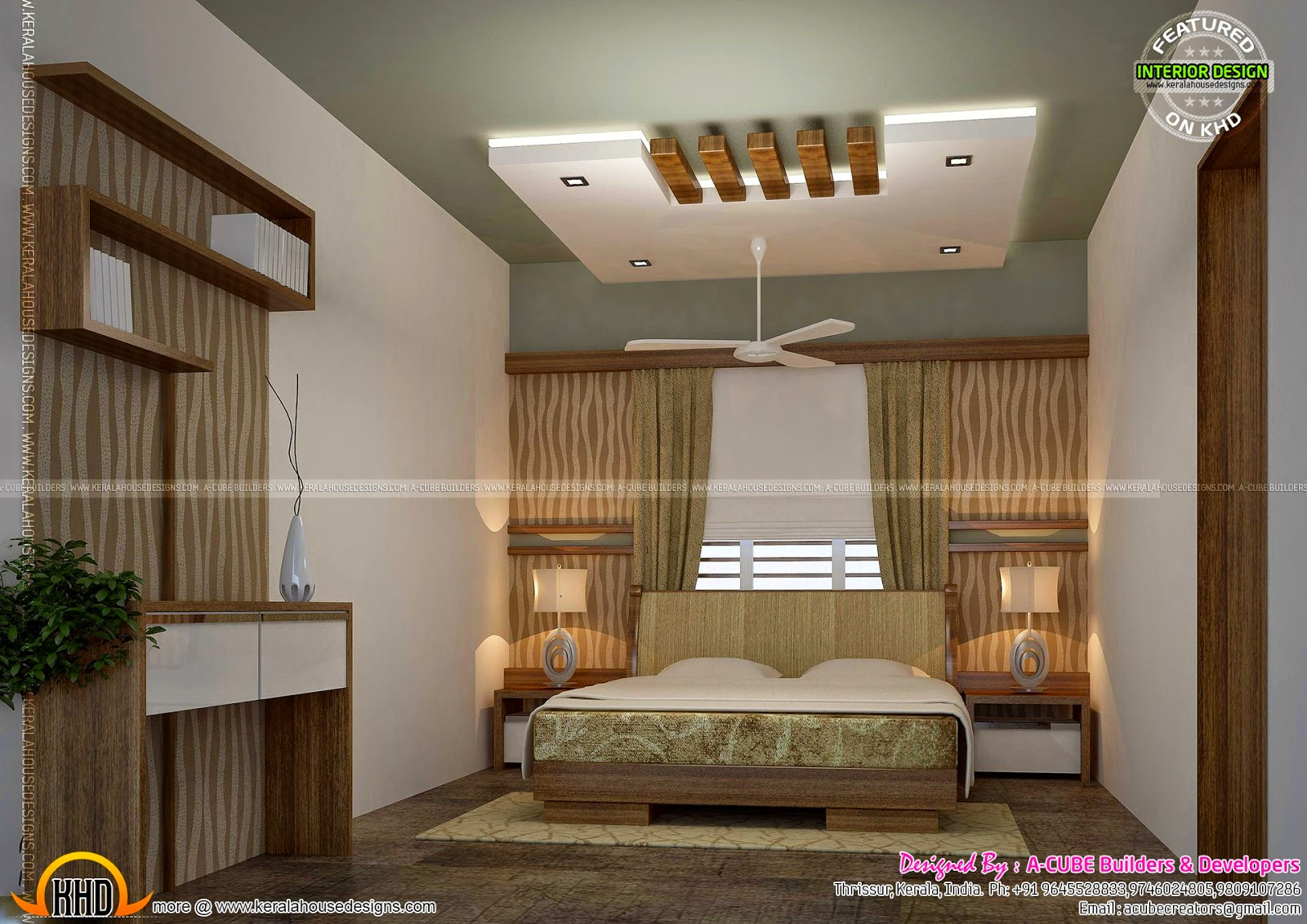 Kerala interior design ideas kerala home design and - Interior design for living room and bedroom ...
