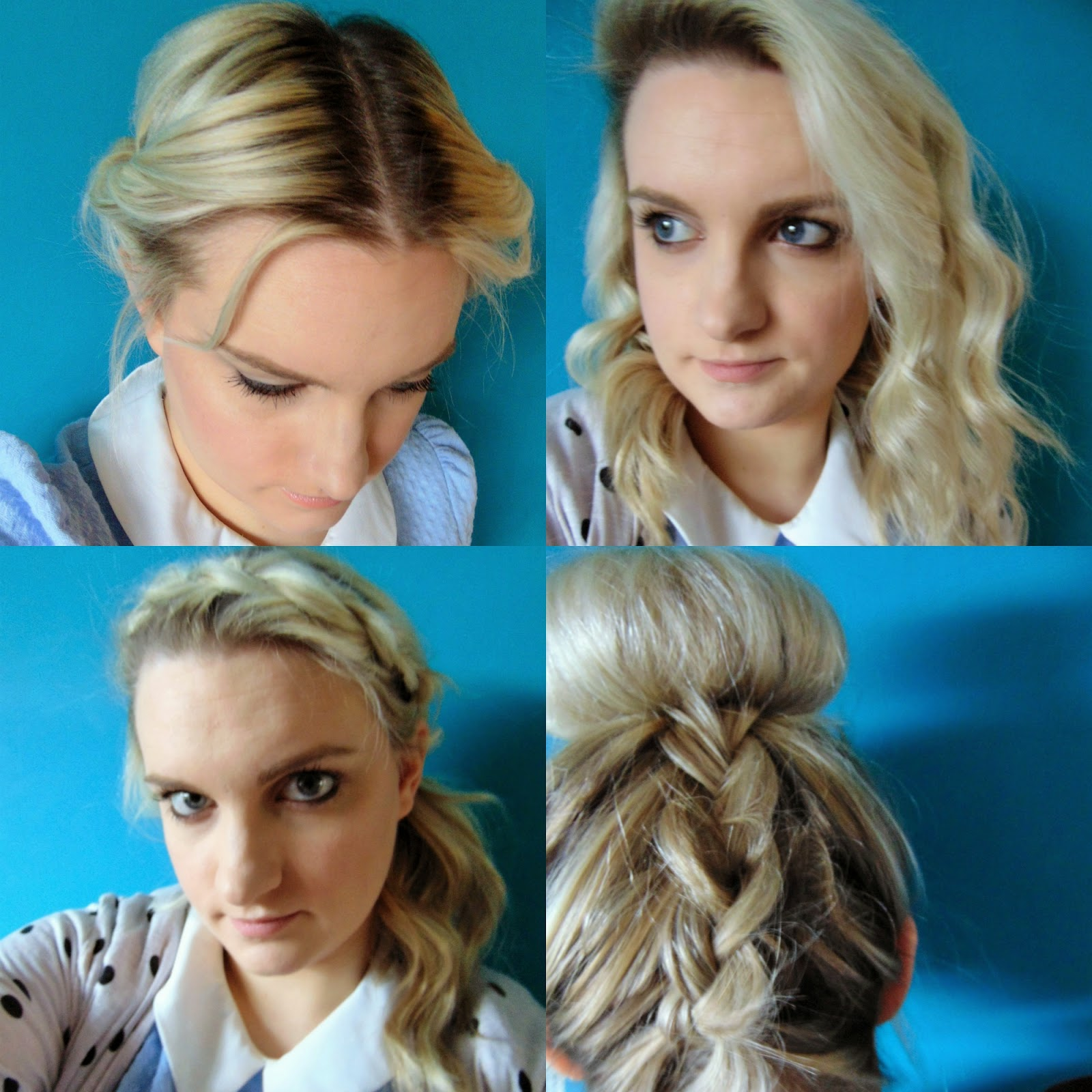 springtime hair style's tutorial braids blonde