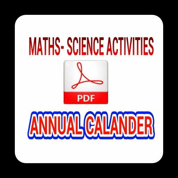 MATHS- SCIENCE ACTIVITIES CALANDER