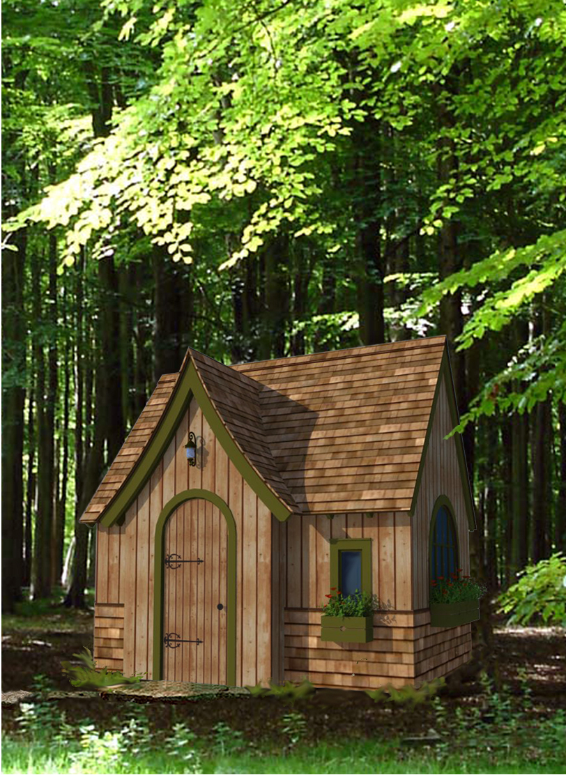 Aplaceimagined sneak peek storybook cottage for Hobbit style playhouse