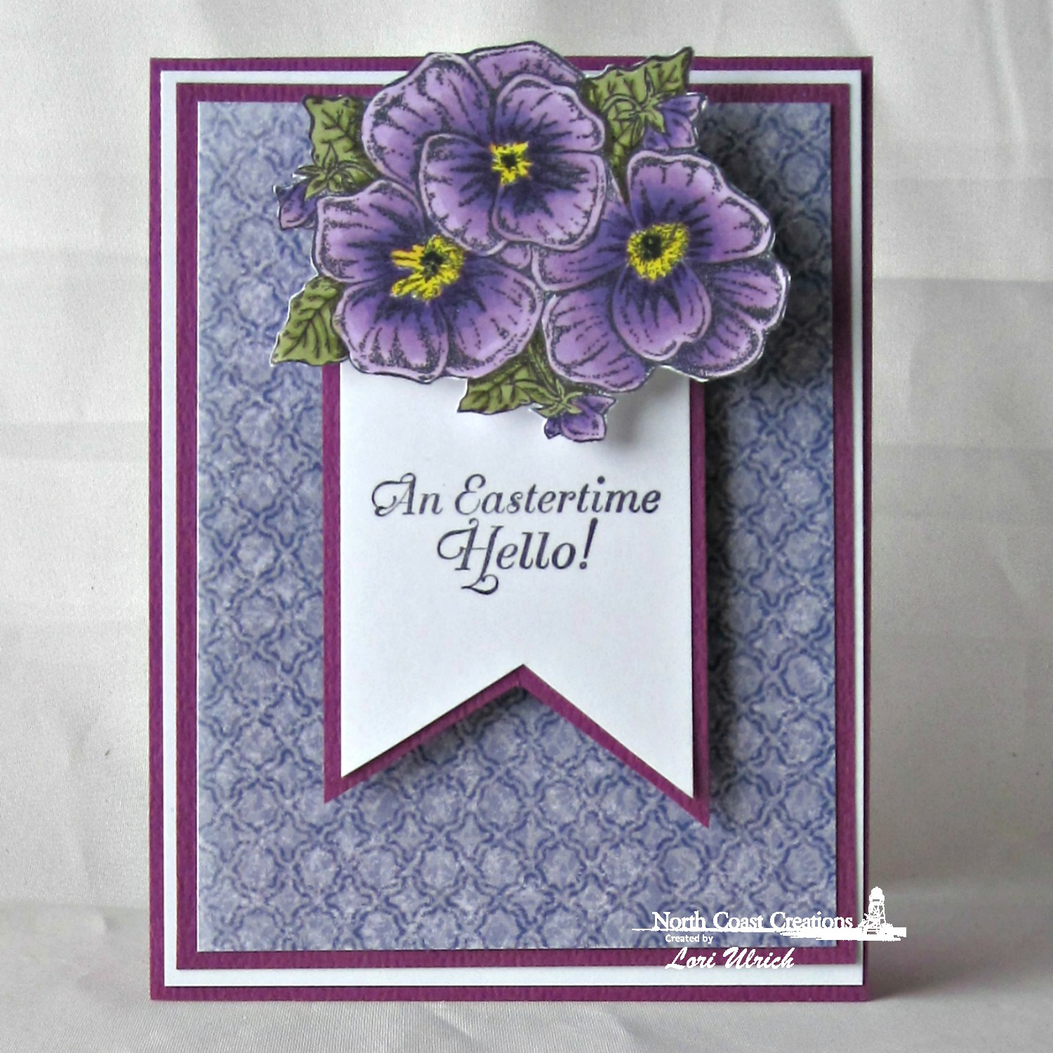 Stamps - North Coast Creations Pansies, ODBD Christian Faith Paper Collection
