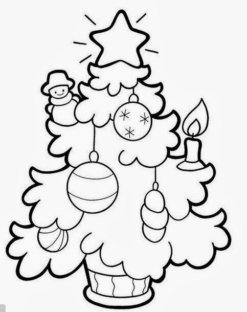 Arbolitos navide os para pintar mimundomanual - Dibujos navidenos para imprimir y colorear ...