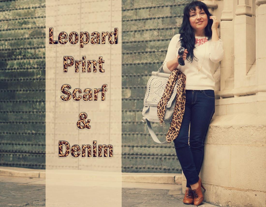 leopard+print+scarf+denim