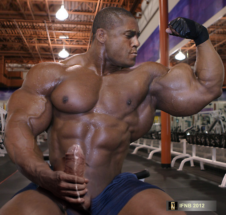 Can body builders showing cock seems