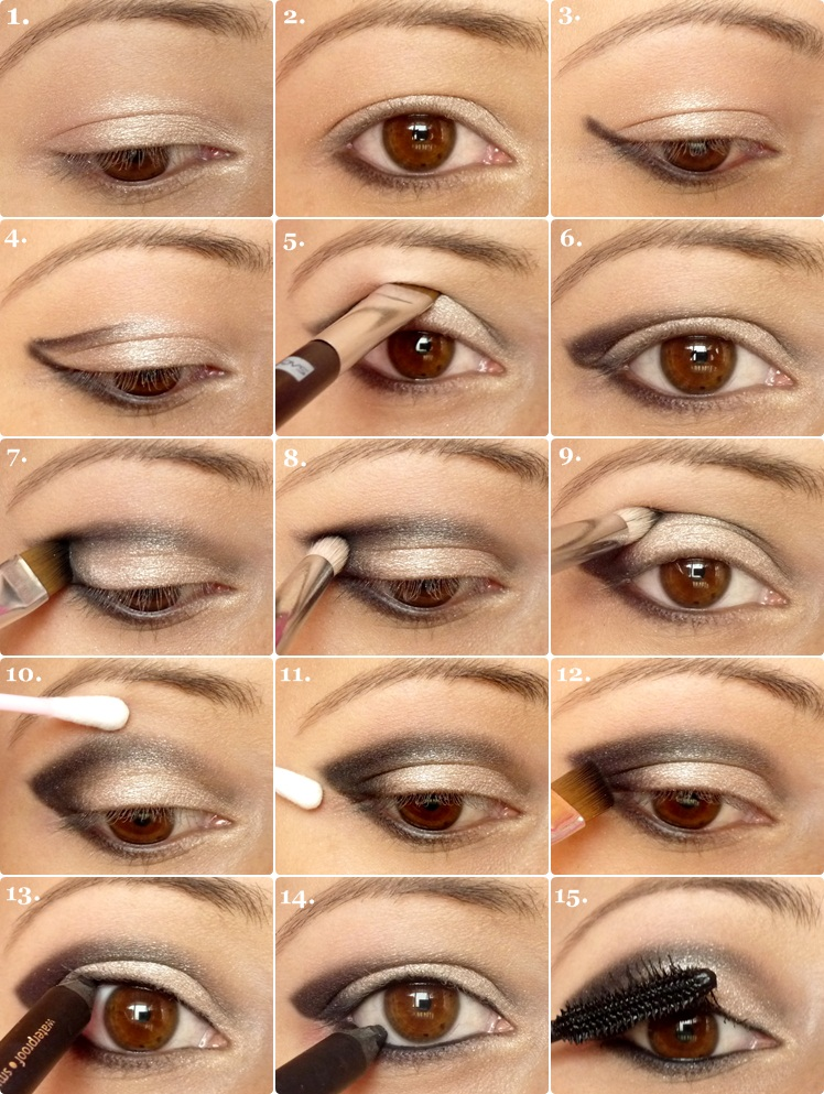 Макияж глаз самостоятельно для карих глаз
