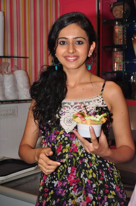 rakul preet singh new @ cream stone ice cream shop actress pics