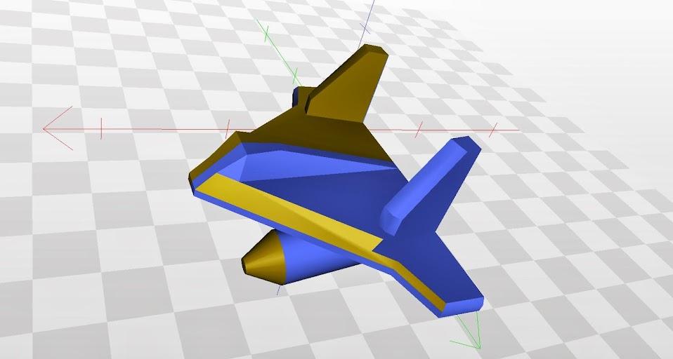 Primer modelo 3D de la ficha avión para el #juegoDeMesa  NGo.