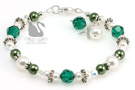 Bali Ring Organ Transplant Awareness Bracelet (B158)
