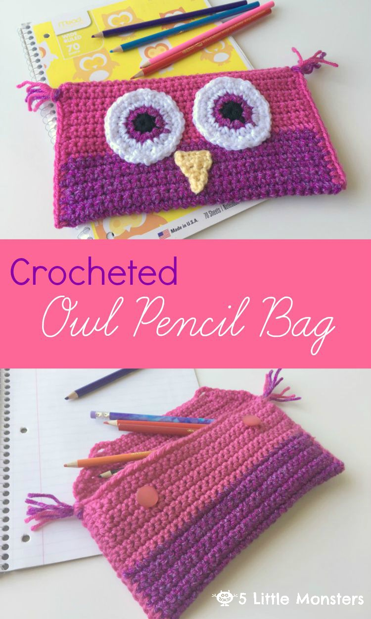 5 little monsters crocheted owl pencil bag crocheted owl pencil bag bankloansurffo Gallery