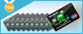 Fődíj: 10 darab 100.000 Ft értékű OTP BANK bankkártya