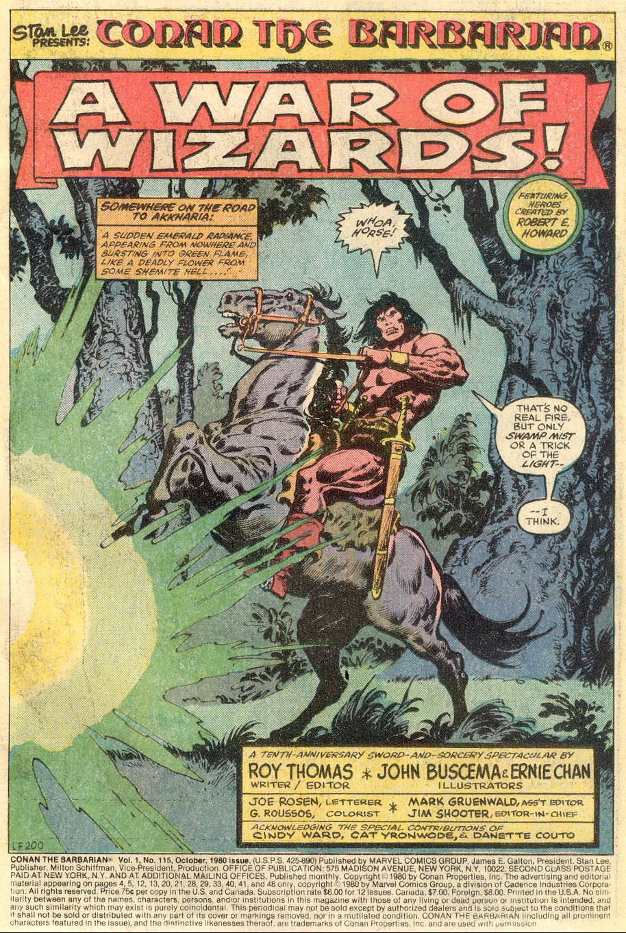 Conan the Barbarian (1970) Issue #115 #127 - English 2
