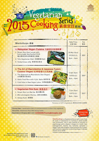 2015 - New Vegan Culinary Classes @ Awareness Place by Vinitha