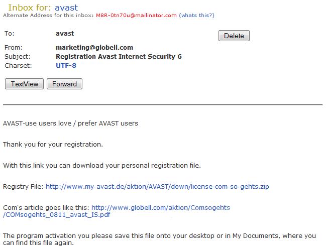 avast customer service email address