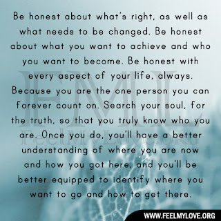 Be honest about what's right