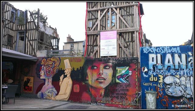 ville Rennes street art Place des Lices