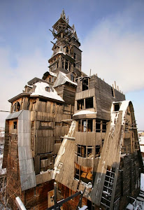 俄國 Archangelsk  Russia 木造房子