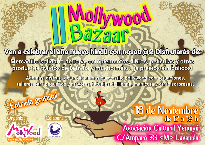 Mercadillo solidario de la India al estilo Bollywood en Mollywood Bazaar