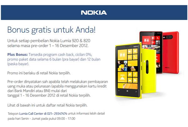 Bonus Gratis Nokia