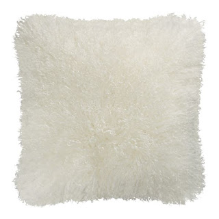 crate and barrel wool accent pillow